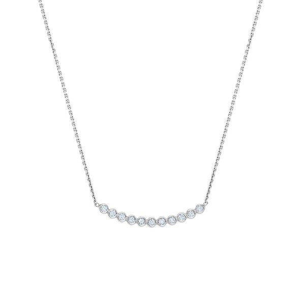 Diamond Bar Bezel Necklace