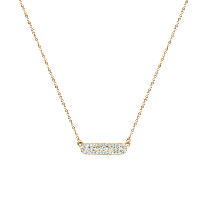 Diamond Halo Bar Necklace