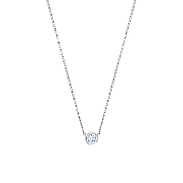 Solitaire Diamond Centered Necklace