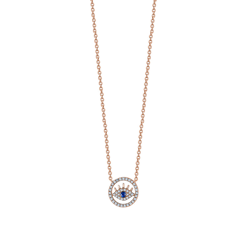 Cut-Out Lashes Evil Eye Necklace