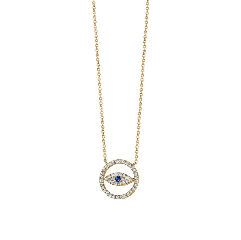 Cut-Out Evil Eye Necklace