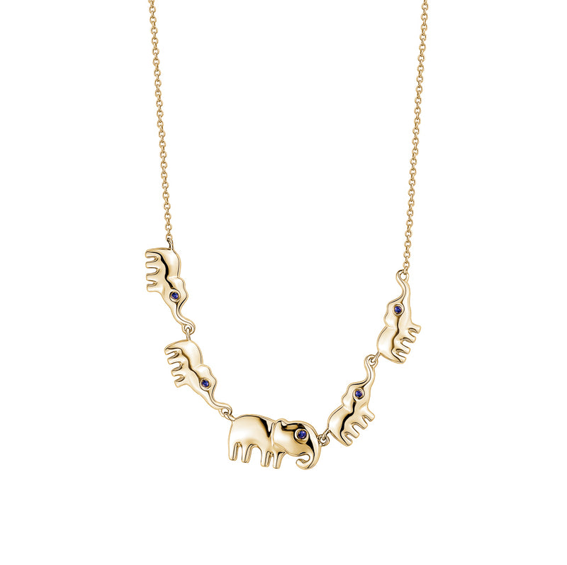 Multiple Elephant Necklace