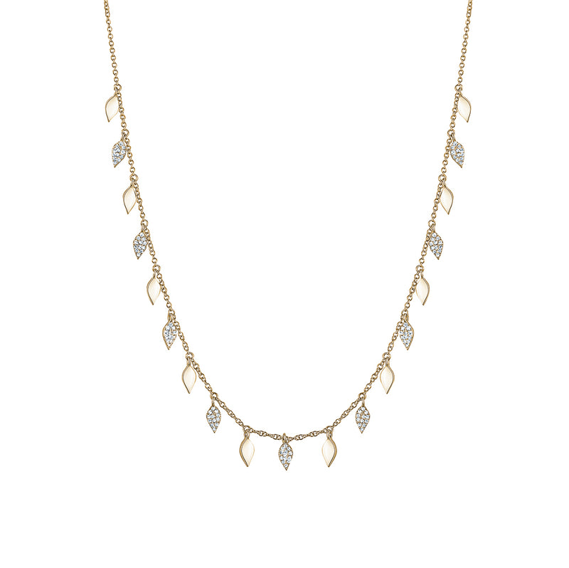 Diamond Leaf Necklace