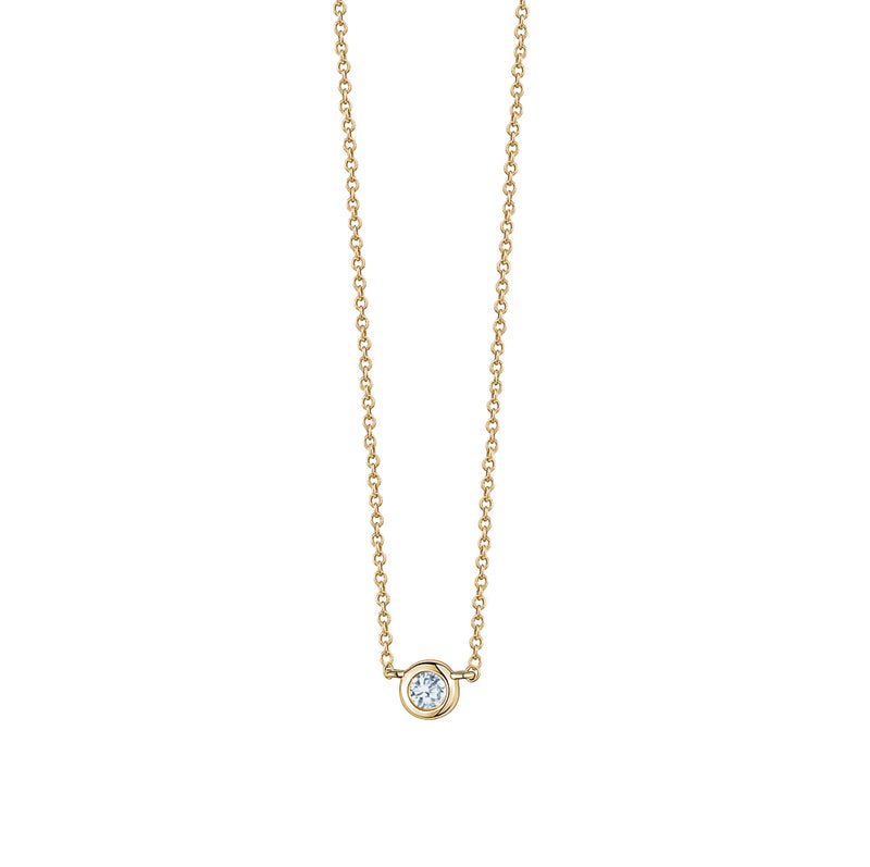 Diamond Petite Solitaire Necklace