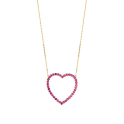 Jumbo Heart Ruby Necklace