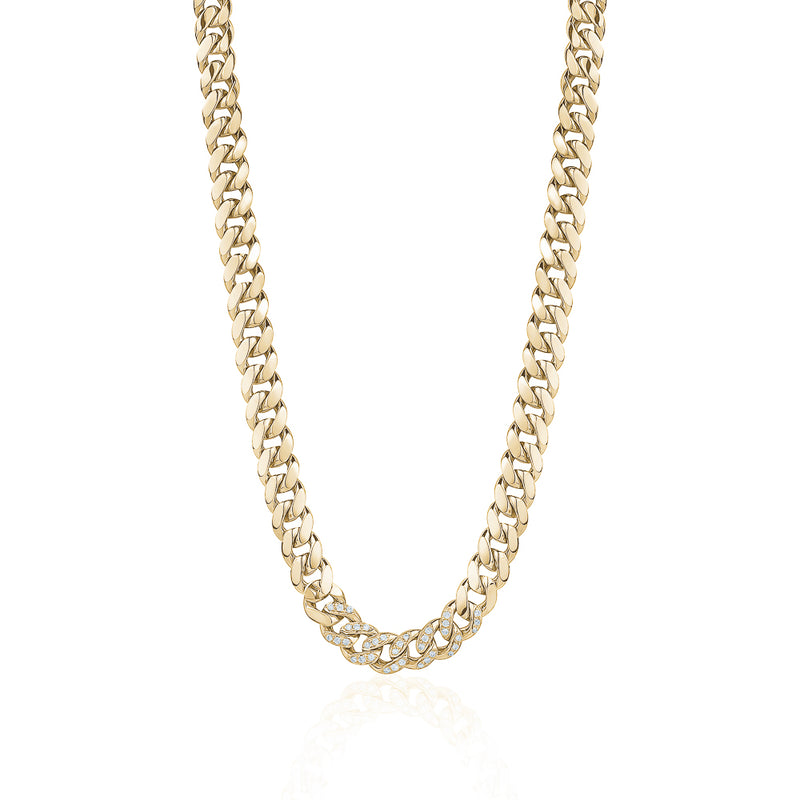 Miami Cuban Link Chain with Diamonds