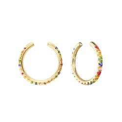 Rainbow Ear Cuff Earrings
