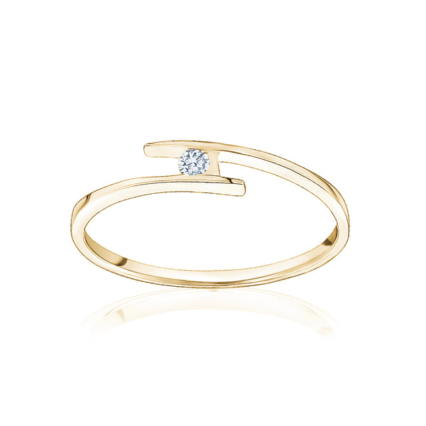 Single Diamond Stackable Ring