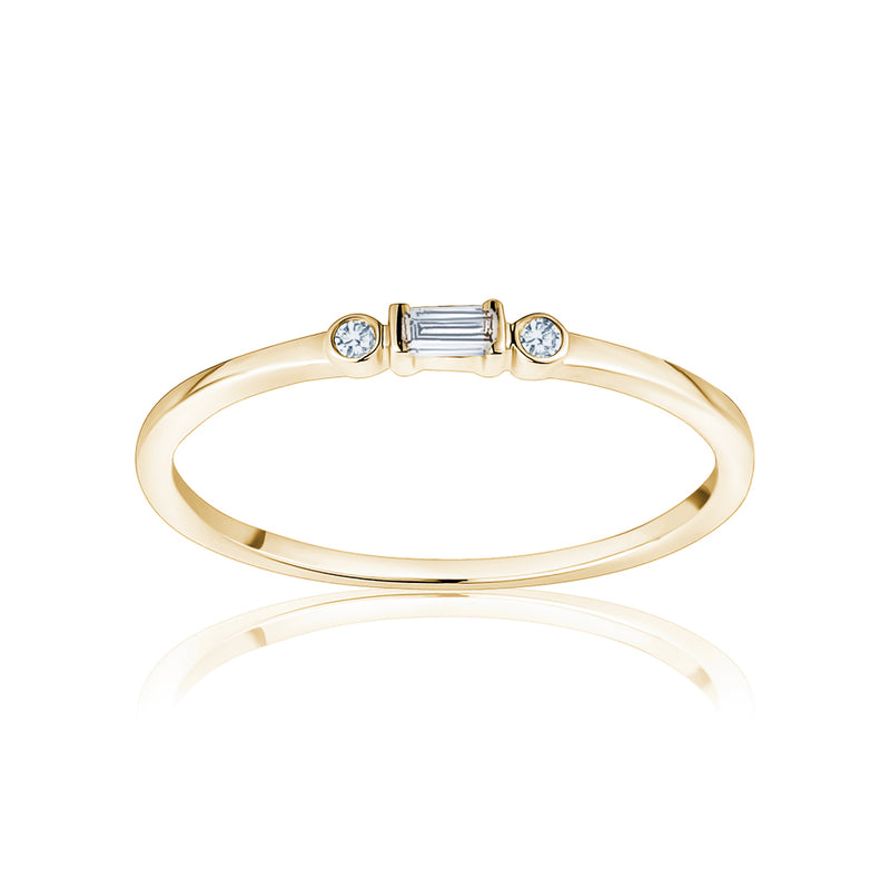 Diamond Single Baguette Ring