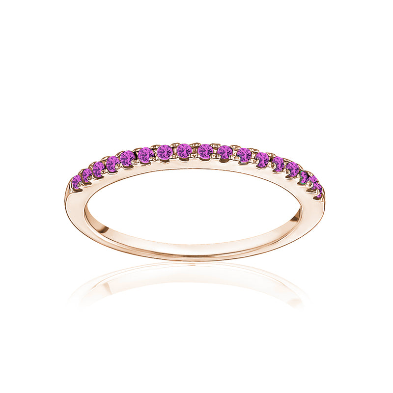 Stackable Pavé Pink Sapphire Ring