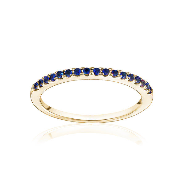 Stackable Pavé Blue Sapphire Ring