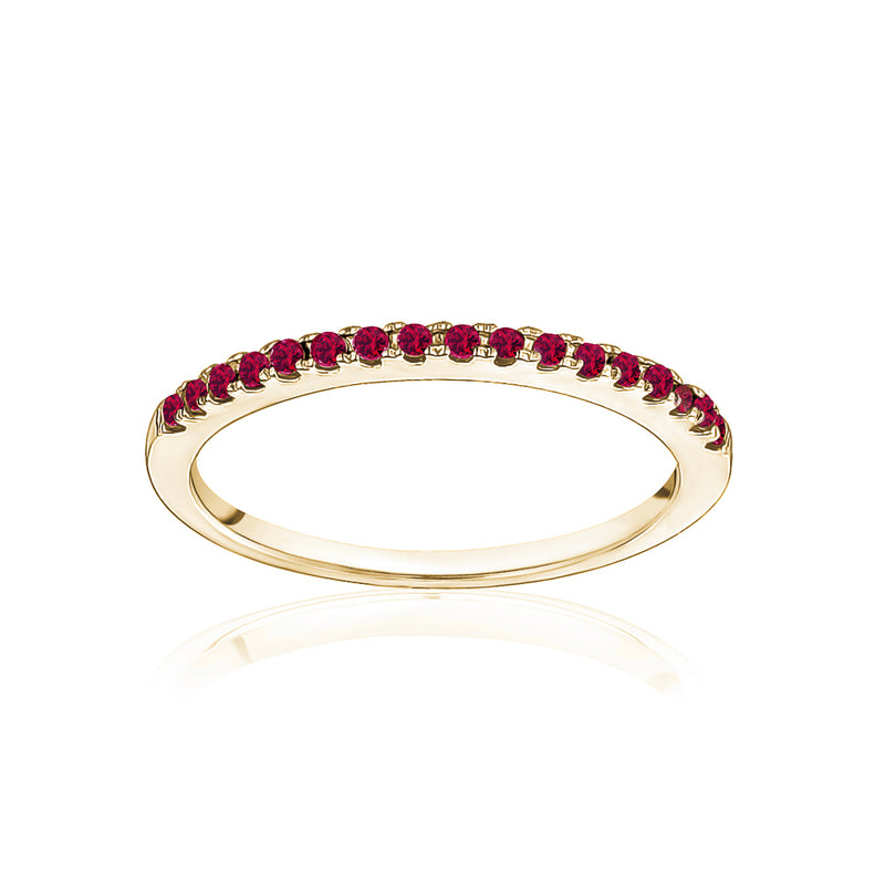 Stackable Pavé Ruby Ring