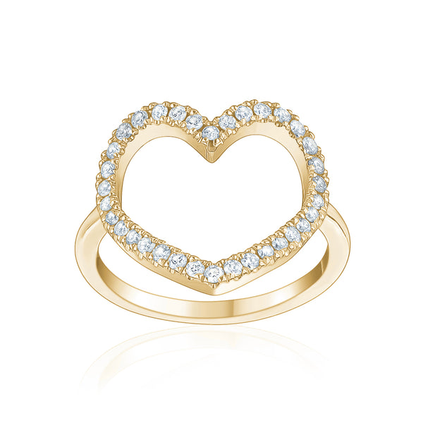 Diamond Jumbo Heart Ring