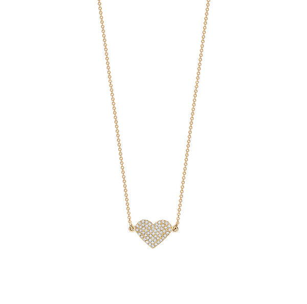 Single Heart Pavé Necklace