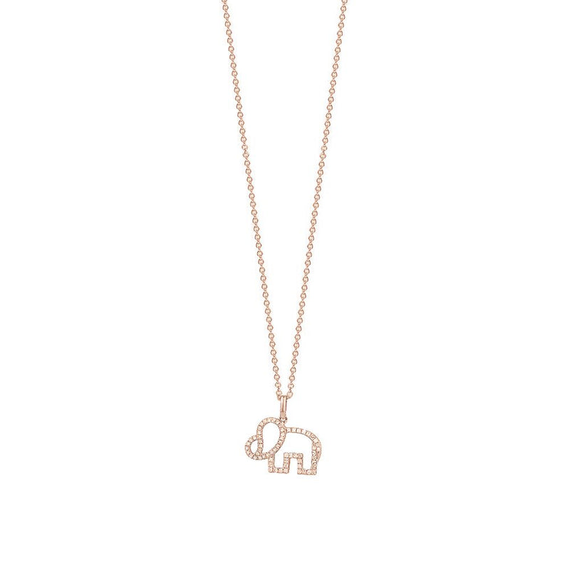 The Diamond Elephant Necklace