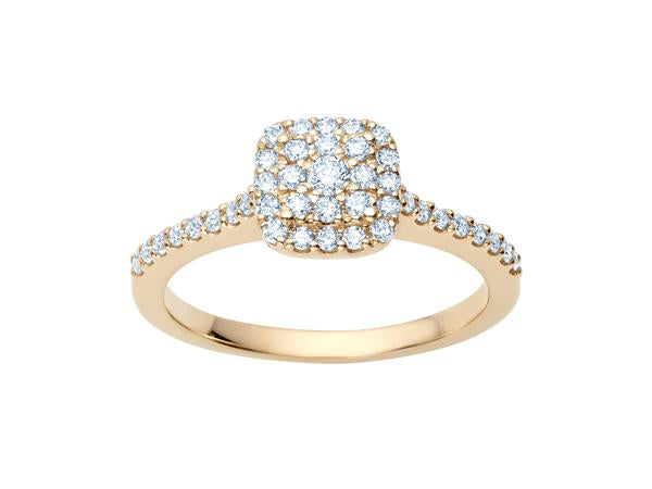 Cushion Cut Cluster Ring