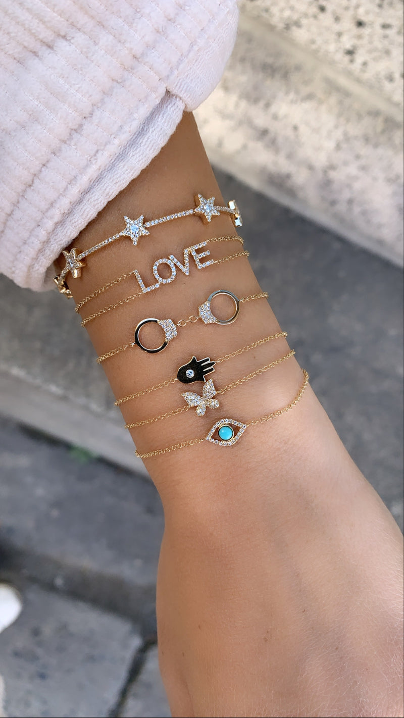 Diamond Handcuff Bracelet