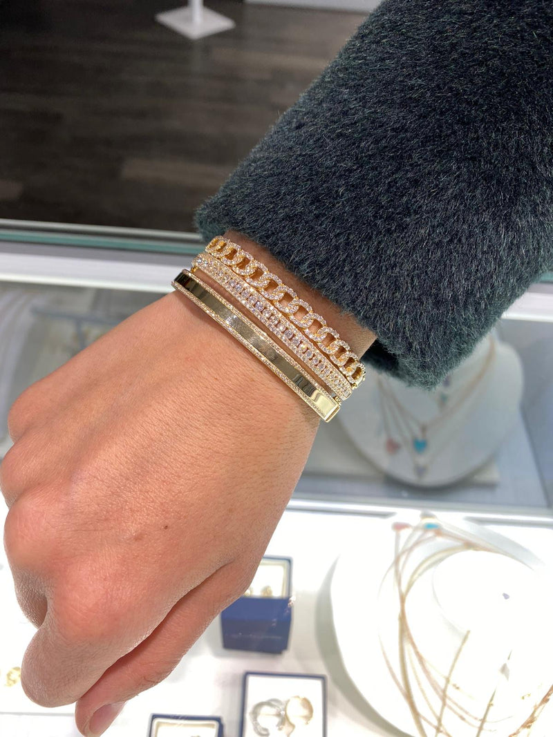 Diamond Border Bangle