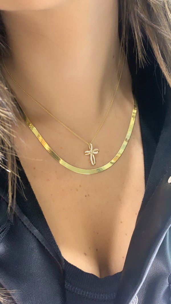 Diamond Fancy Cross Necklace