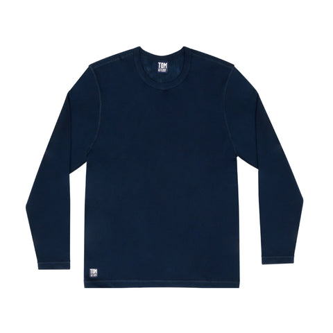 Solid Deep Blue Long Sleeve