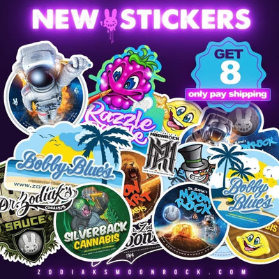Dr. Zodiak's Stickers Pack - Pack of 4 x 2 -More Designs Coming Soon
