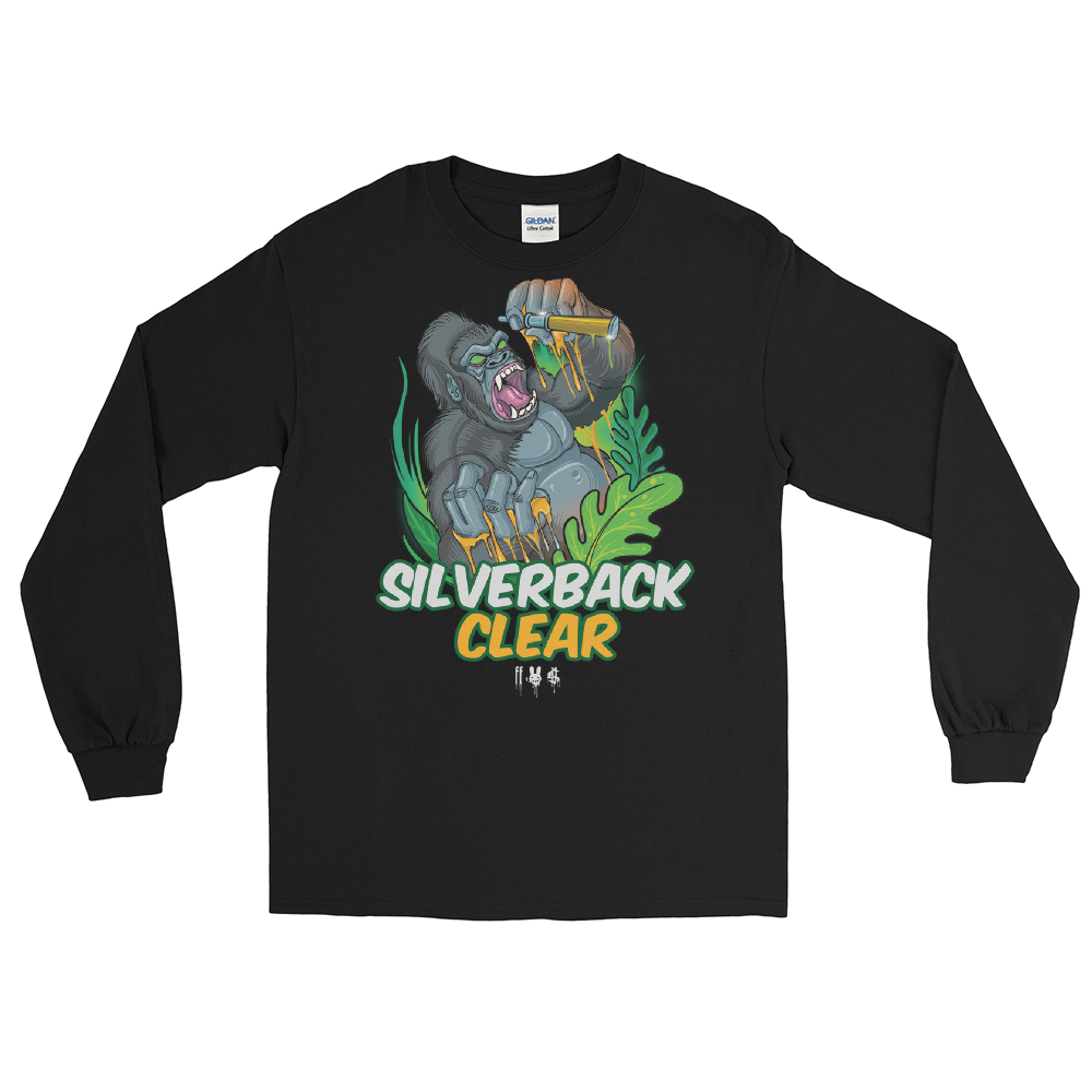 SILVERBACK CLEAR - Men's Long Sleeve Shirt - Logo