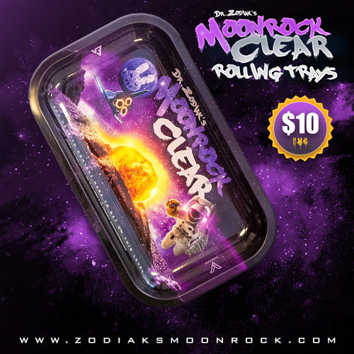 Dr.Zodiak's Moonrock Rolling Tray - Moonrock Purple