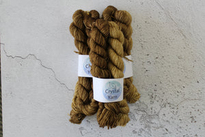 Pentacles Tarot Gradient - 4ply BFL Mini skeins crystal-yarn.myshopify.com