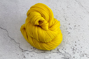 Yellow Phoenix Feather - 4ply Corriedale