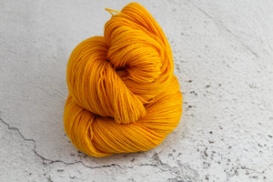 Orange Phoenix Feather - 4ply Corriedale