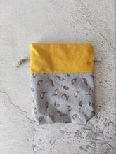 Load image into Gallery viewer, Hand Sewn Otter Print Sock Project Bag