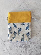 Load image into Gallery viewer, Hand Sewn Koi Print Sock Project Bag