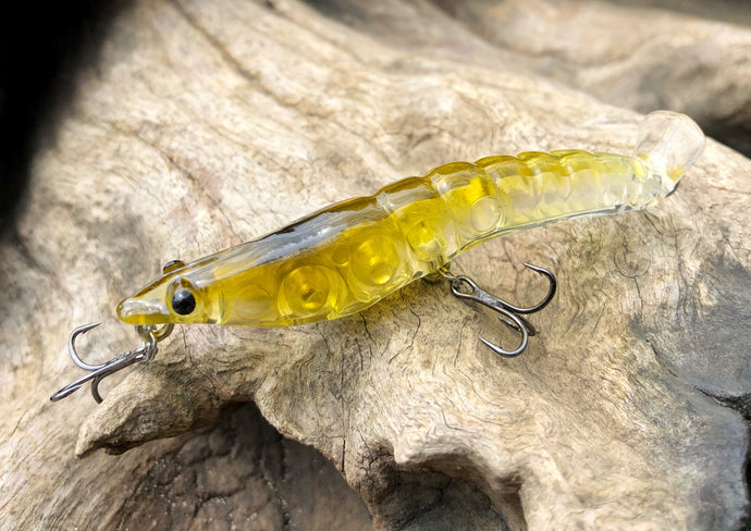 70mm Splash Prawn - Amber Green