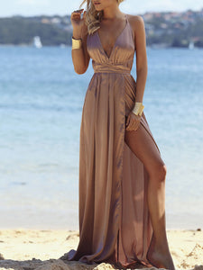 Women Strappy Sleeveless Party Dress Long Maxi Dress Gowns