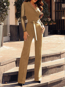 Women's Sexy Belted Slimming Jumpsuits Siamese Trousers