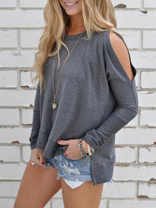 Women Long Sleeve Off Shoulder Loose Winter Shirts