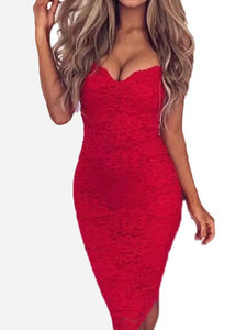 Spaghetti Sexy Bodycon Dress Package Hip Dresses