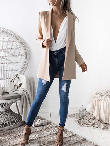 Women Casual Lapel Blazers Coats