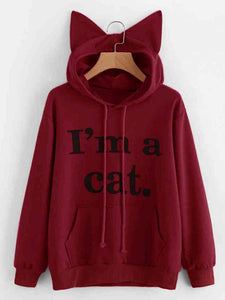 Women Long Sleeve Cat Ears Hoodies Women's Hoodie