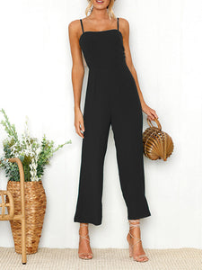 Spaghetti Strap Sleeveless Jumpsuit Siamese Trousers