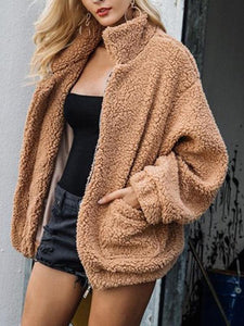 Women Fluffy Faux Fur Winter Coat
