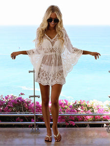 Women's Sexy Embroidered Beach Mini Dresses