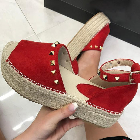 Women Creeper Sandals Casual Espadrilles Adjustable Buckle Shoes (Special Offer: Buy 1 Get 1 15% Off-Code: shoe15)