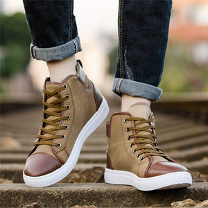 Men's High Top Canvas Shoes