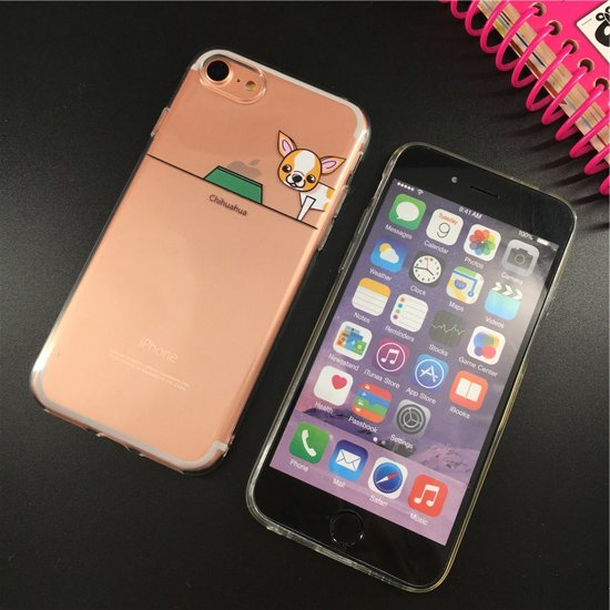 Apple iPhone 6S hoesje van siliconen - Chihuahua