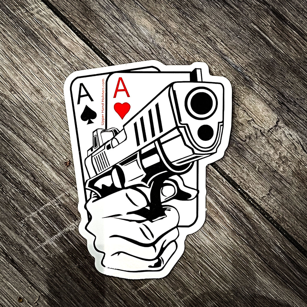 Upper Hand Holster Sticker