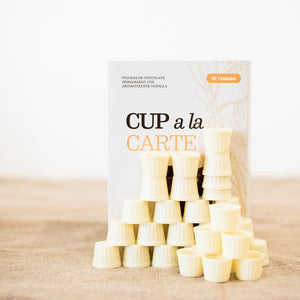 Cups chocolate blanco
