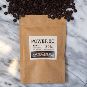 Chocolate Power 80% cacao Callebaut X 400 G