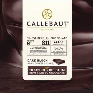 Chocolate Semi amargo 811 53.6% Callebaut Dark Block x 5 Kg