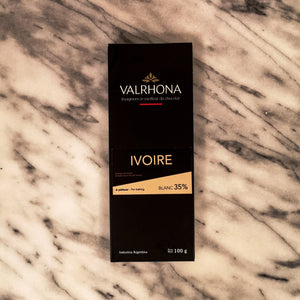 Tableta chocolate blanco Ivoire 35% Varhona x 100 G